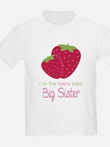 Berry Best Big Sister T-Shirt