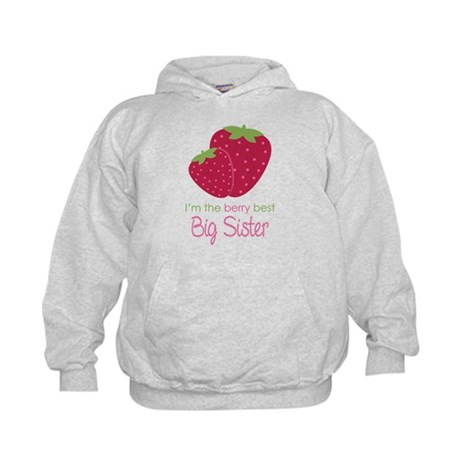Berry Best Big Sister Kids Hoodie