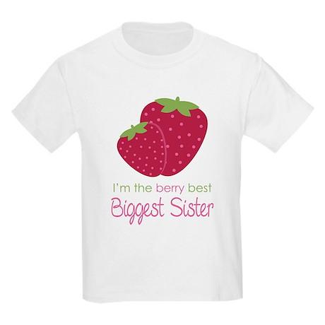 Berry Best Biggest Sister Kids Light T-Shirt