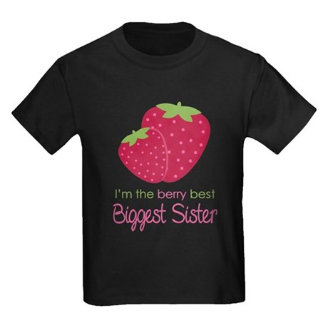 Berry Best Biggest Sister Kids Dark T-Shirt