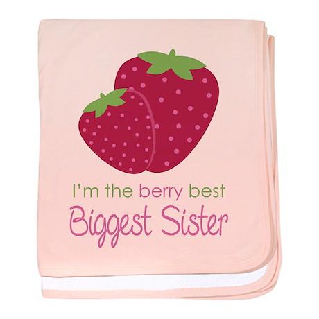 Berry Best Biggest Sister baby blanket
