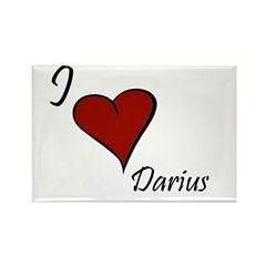I love Darius Rectangle Magnet