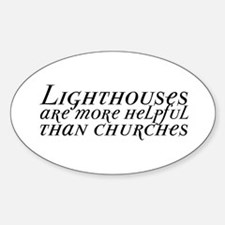 Lighthouses and Churches Decal