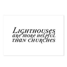 Lighthouses and Churches Postcards (Package of 8)
