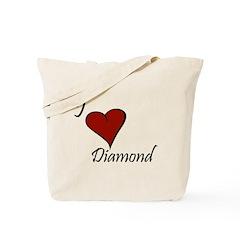 I love Diamond Tote Bag