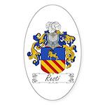 Resti Coat of Arms Oval Sticker