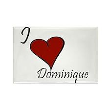 I love Dominique Rectangle Magnet (10 pack)