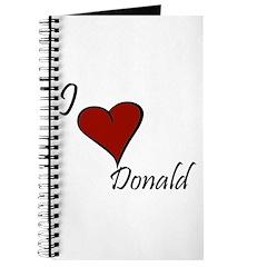 I love Donald Journal