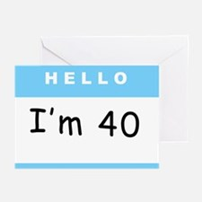 Hello, I'm 40 Greeting Cards (Pk of 10)