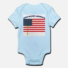 God Bless America Infant Creeper