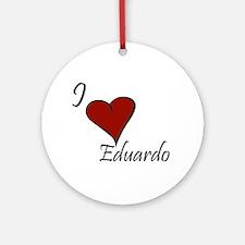 I love Eduardo Ornament (Round)