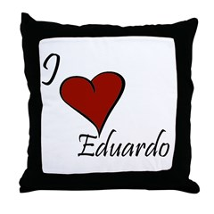 I love Eduardo Throw Pillow