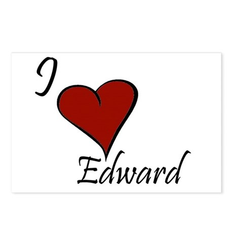 I love Edward Postcards (Package of 8)