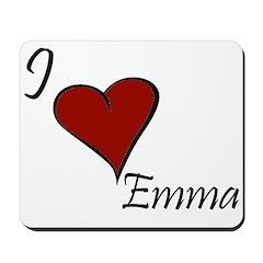 I love Emma Mousepad