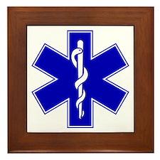 Blue Star of Life Framed Tile
