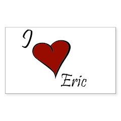 I love Eric Sticker (Rectangle)