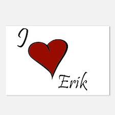 I love Erik Postcards (Package of 8)