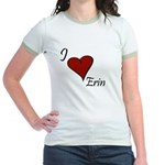 I love Erin Jr. Ringer T-Shirt