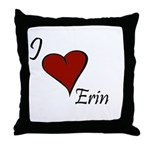 I love Erin Throw Pillow