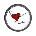 I love Erin Wall Clock