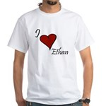 I love Ethan White T-Shirt