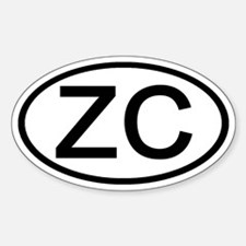 ZC - Initial Oval Oval Decal