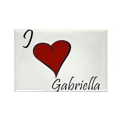 I love Gabriella Rectangle Magnet