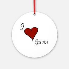 I love Gavin Ornament (Round)