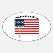 God Bless America Oval Decal