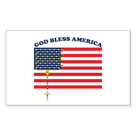 God Bless America Rectangle Sticker
