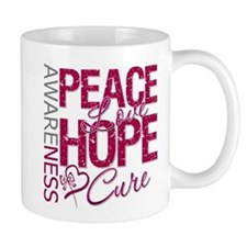 HeadNeckCancer PeaceLoveCure Mug