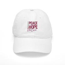 HeadNeckCancer PeaceLoveCure Baseball Cap
