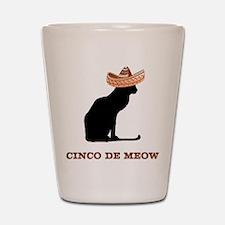 Cinco de Meow Shot Glass