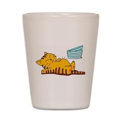 Funny Fat Cat Shot Glass
