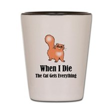 When I Die Shot Glass