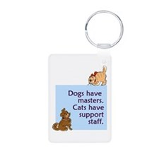 Cats vs. Dogs Keychains