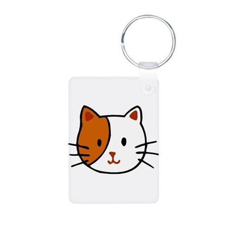 Calico Cat Cartoon Aluminum Photo Keychain