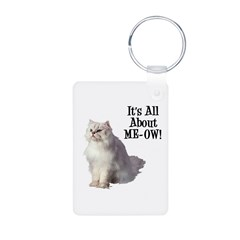 Meow Persian Cat Keychains