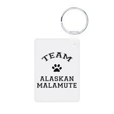 Team Alaskan Malamute Keychains