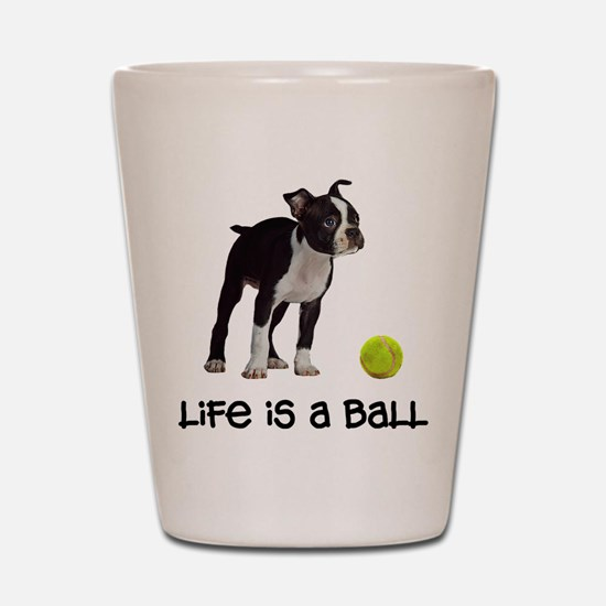 Boston Terrier Life Shot Glass
