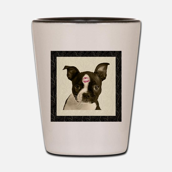 Boston Terrier Kiss Shot Glass
