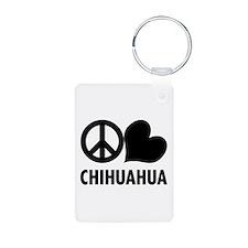 Peace Love Chihuahua Keychains