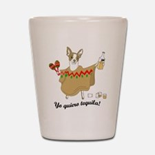 Yo Quiero Tequila Chihuahua Shot Glass