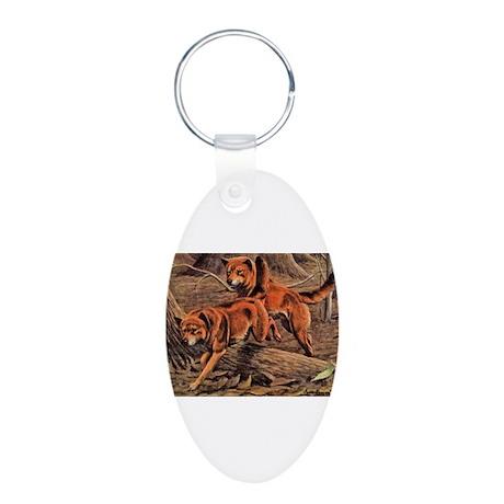 Dingo Art Aluminum Oval Keychain