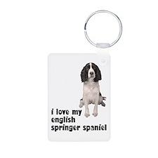 I Love My Springer Spaniel Keychains