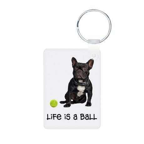 French Bulldog Life Aluminum Photo Keychain