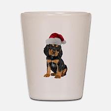 Gordon Setter Christmas Shot Glass