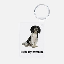 Havanese Love Aluminum Photo Keychain