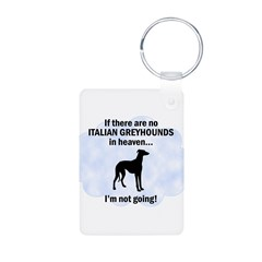 Italian Greyhounds In Heaven Keychains