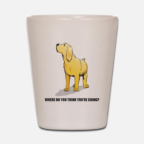 Rude Labrador Retriever Shot Glass